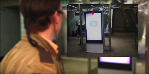 Tobii Glasses used to study efficiency of digital signage in the subway.