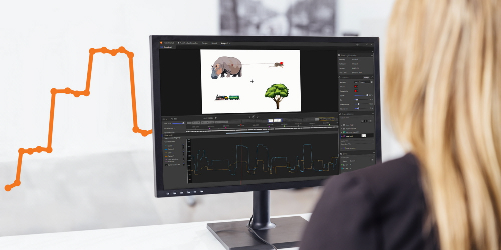 Tobii Pro Lab, eye tracking software